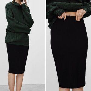 ARITZIA WILFRED Pull On Black Pencil Skirt